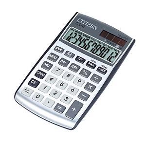 Calculatrice de poche Citizen CPC-112 Basic+, affich. 12chiffres, argenté