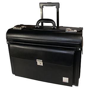 Pilotenkoffer Monolith 2179, Rollen, PVC, 485 x 370 x 240mm, schwarz