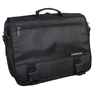 Sacoche pour ordinateur portable Monolith Deluxe, nylon, noir