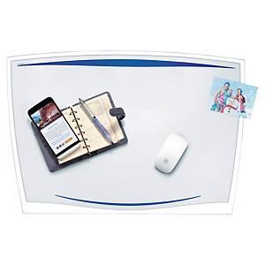 Skrivunderlägg Cep, blått med transparent klaff