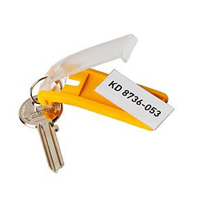 Durable key holders assorted colours - pack of 6