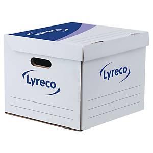 Boîte à archives Lyreco, l35 x P35 x H28 cm, blanc/bleu