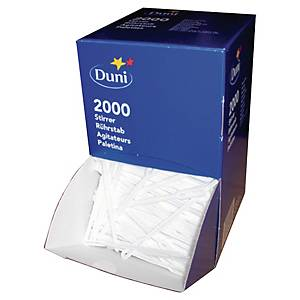 Duni plastic stirrers 112mm white - pack of 2000