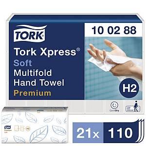 Serviette Tork Xpress® Multifold Soft, 2 épaisseurs, 21 x 110 serviettes