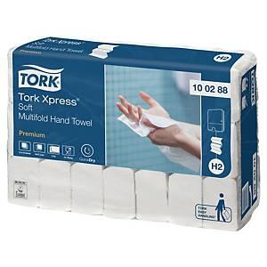 Pack de 21 paquetes de toallas secamanos Tork H2 - 110 hojas - W - 2 capas