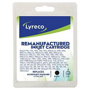 Tinteiro LYRECO preto compativel com HP 45 para DeskJet 815c/895cxi