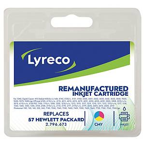 LYRECO HP COMPATIBLE INKJET CARTRIDGE FOR HP57 6657AE  COLOUR