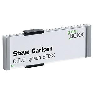 Identificador para portas Durable Info Sign - formato título - alumínio