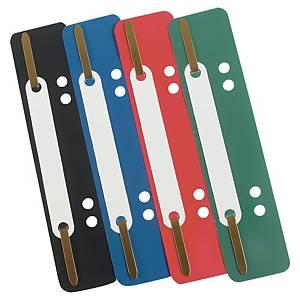 Caja de 100 encuadernadores flexibles - 34 x 150 mm - varios colores