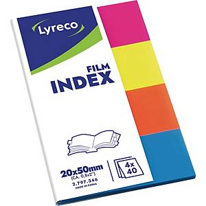 Film-Index Lyreco 19 x 43mm transluzent farbig sortiert 200 Streifen