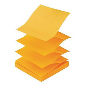 Lyreco Zigzag Notes 75x75mm 100-Sheets Yellow/Orange