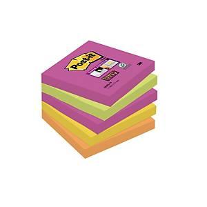 Notes Post-it® Super Sticky 654SN, 76x76mm couleurs Cape Town, paquet de 5 blocs