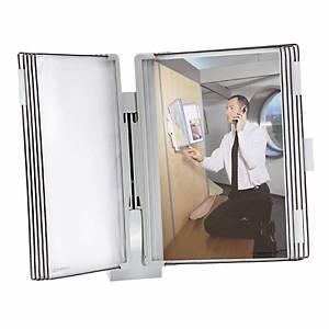 Wandsichttafelsystem Tarifold t-display, A4, komplett, grau