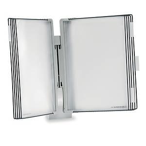 Tarifold 714300 Design displaysysteem wandkit, 10 panelen, PP, grijs