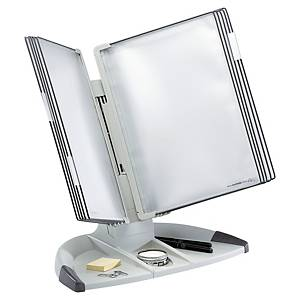 Tarifold 734300 display system desk unit with 10 pockets in PP grey
