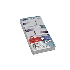 Weiße selbstklebende Briefumschläge C5/6 (110 x 220 mm), Packung mit 50 Stück