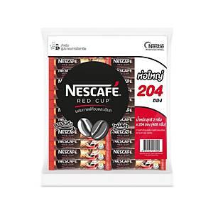 NESCAFE กาแฟเรดคัพ สติ๊ก แพ็ค ขนาด 2 กรัม แพ็ค 204 ซอง