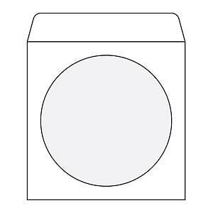 weiße CD/DVD - Umschläge mit Fenster 127 x 127 mm, Packung mit 50 Stück