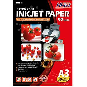 HI-JET กระดาษอิงค์เจ็ท EXTRA 2000 A3 90 แกรม 1 แพ็ค 100 แผ่น