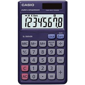 Kapesní kalkulačka Casio SL-300VER, 8-místný displej, fialová