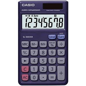 Casio SL-300VER zsebszámológép, 8 számjegyű kijelző, lila