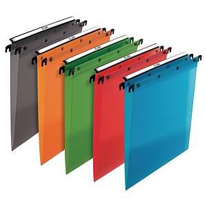 Loblique Translucent Suspension File 330-V Polypropylene Assorted - Box Of 10