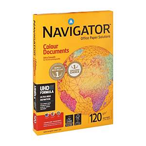 Papier A4 blanc Navigator Colour Documents premium, 120 g, les 250 feuilles