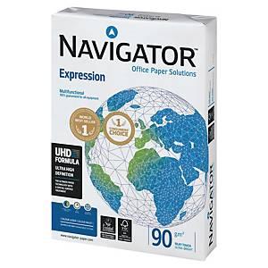 Caja de 5 paquetes 500 hojas de papel Navigator Expression - A4 - 90 g/m2