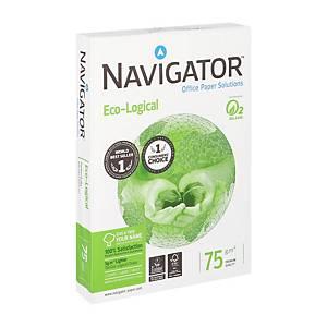 Navigator Ecological ecologisch wit A4 papier, 75 g, per doos van 5 x 500 vellen