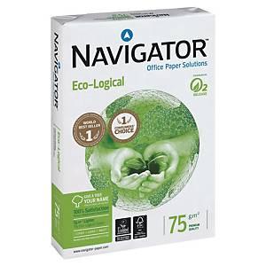 Papier pour photocopieur Navigator Eco-logical A4, 75 g/m2, blanc, 500feuilles