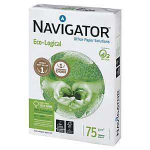 Caixa 5 resmas de 500 folhas de papel Navigator Eco-Logical - A4 - 75 g/m²