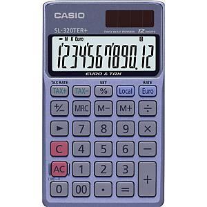 Casio SL320TER+ taskulaskin 12 numeron näyttö