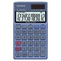 Calculatrice de poche Casio SL-320TER+ avec couvercle, noire, 12 chiffres