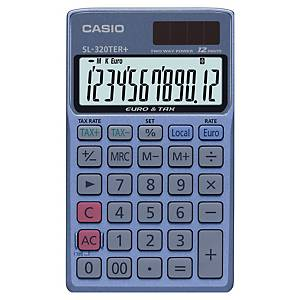 Casio SL-320TER+ pocket calculator + cover -12 numbers - black