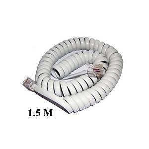 SPIRAL TELEPHONE CABLE 1.5 METERS WHITE