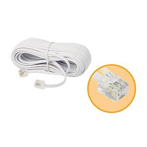 TELEPHONE EXTENSION CABLE 5 METERES WHITE