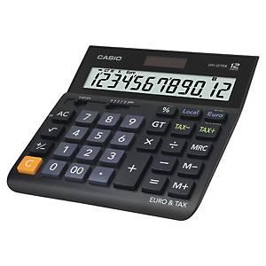 Tischrechner Casio DH-12TER, 12stellig, Solar-/Batteriebetrieb, schwarz