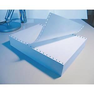 Caja de 1500 hojas de papel listado - 2 hojas - 240 x 280 mm - blanco químico