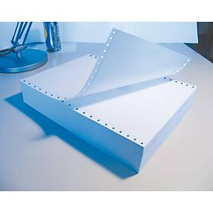 Caja de 2500 hojas de papel listado - 1 hoja - 240 x 305 mm - blanco