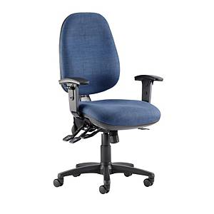 RE1 Deluxe High Back Operators Chair With Synchron - Blue