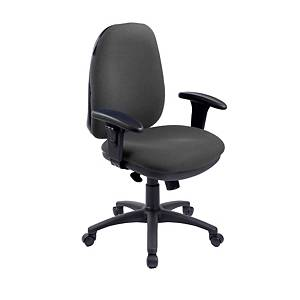 RE1 Deluxe High Back Operators Chair With Synchron - Charcoal