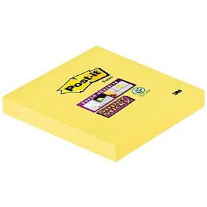 Post-it Super Sticky viestilappu 76x76mm keltainen, 1 kpl=6 nidettä