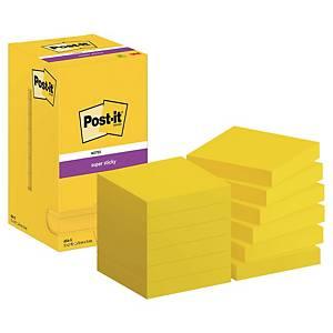 Block de 90 notas adhesivas Post-it Super Sticky - amarillo neón - 76x76mm