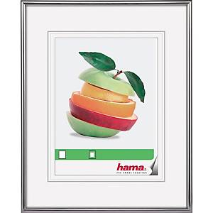 Bilderrahmen Hama 66440, Sevilla, 50 x 70cm (Bildformat: 30 x 45cm), silber matt
