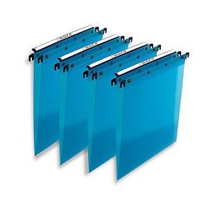 Elba Translucent Blue A4 PP Suspension Files V Base - Box of 10