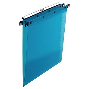 Pack 10 pastas suspensas para gavetas Elba Design - PP - lombada em V - azul