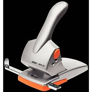 Rapid HDC65 Registraturlocher, Stanzleistung: 65 Blatt, orange/silber