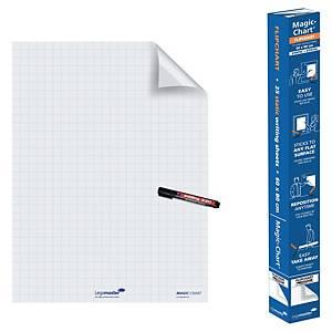 Rotolo elettrostatico Legamaster Magic Chart a quadretti 60 x 80 cm