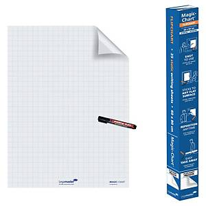 Legamaster Magic Chart whiteboard op rol, 60 x 80 cm, geruit