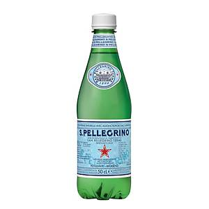 Eau pétillante San Pellegrino, le paquet de 24 bouteilles de 0,5 l